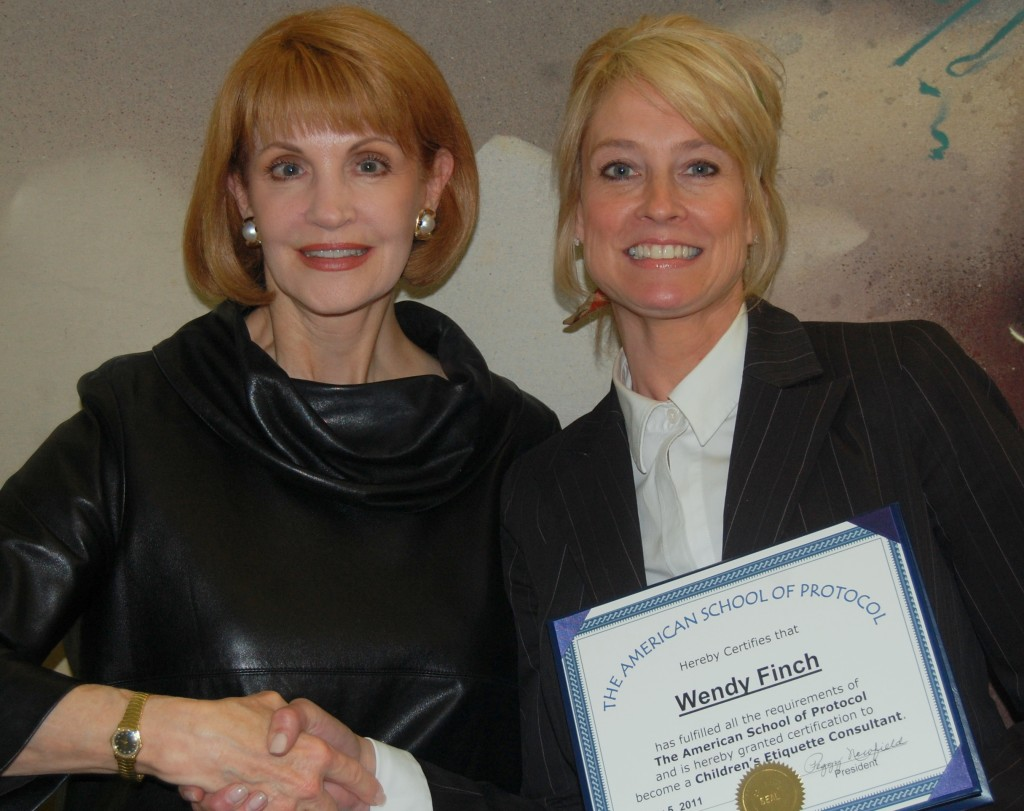 """Graduate Wendy Finch with Peggy Newfield"""