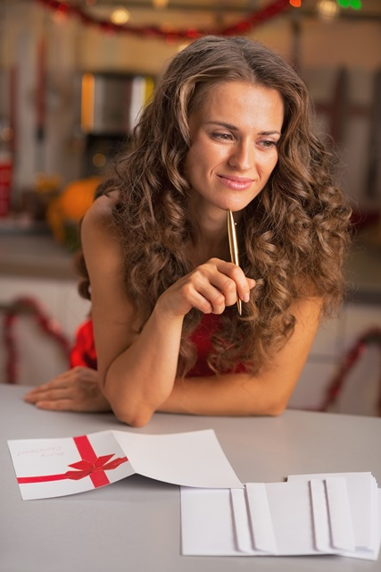 Writing holiday thank you notes